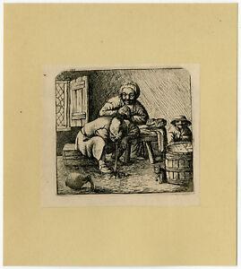 Antique Print-GENRE-DRINKING-THROW UP-189-Deuchar-1784