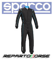 TUTA KART SPARCO GROOVE KS-3 NERO CELESTE  CIK- FIA  N2013.1 - 002334