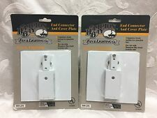 Lot 2 Hampton Bay End Connector & Cover Plate White Finish 555 251 New