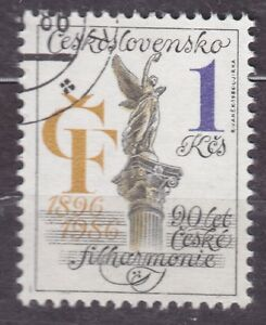 CZECHOSLOVAKIA 1986 USED SC#2593 Philharmonic Orchestra, 90th Anniv.