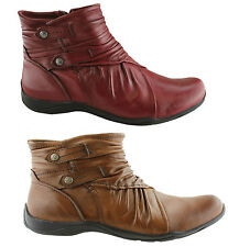Zip Flat (0 to 1/2 in.) Ankle Boots for Women