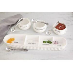 Mud Pie E1 Circa Dining Soup & Chili Bowl & Spoon Set 48500004 Choose Design