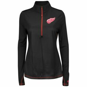 NHL Detroit Red Wings Majestic Therma Base 1/4 Zip Pullover Women's XL
