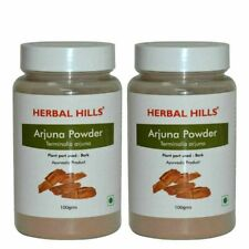 Arjuna Powder Terminalia Arjuna by Herbal Hills- 100g Each (Pack of 2) Bottle
