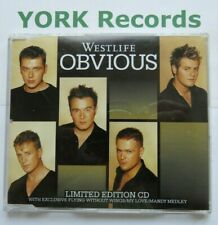 WESTLIFE - Obvious - Excellent Condition CD Single RCA