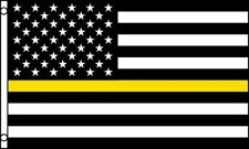 Thin Yellow Line Flag 3x5 American Flag Tow Truck Drivers 3 x 5 Operator Flatbed