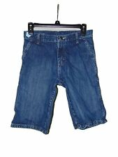 Pre Owned Wrangler Denim Jean Shorts Size 14 Regular Side Adjusters