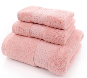 Bath Towel 3 Pieces Set Bathroom Spa Swimming Towels 60% Cotton Luxurious Towels