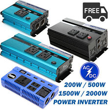 200W/500W/1500W/2000W Car Power Inverter Charger Converter for Electronic US