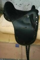 "New Synthetic /Suede seat Australian Stock Saddle Without Horn 17""/ All Sizes"