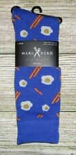 MENS MARC ECKO EGGS BACON BREAKFAST BLUE SOCKS (SHOE SIZE 6-12)
