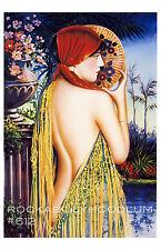 Pin Up Girl Poster 11x17 Gypsy Princess Art Deco Flapper