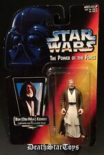 Star Wars POTF2 Obi-Wan Kenobi Ben Red Card Long Saber Lightsaber Variant ANH