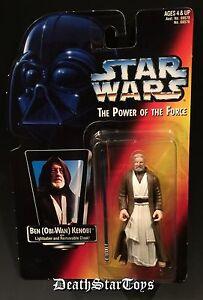 Star Wars POTF2 Obi-Wan Kenobi Ben Red Card Long Saber Lightsaber Variant Jedi