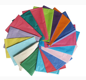 10 Sheets Tissue Paper  50cm X 75cm Coloured Wrapping Gift Wrap Various Colours
