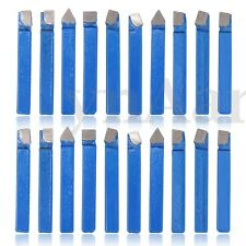"""20PC 1/4"""" CARBIDE TIP TIPPED CUTTER TOOL BIT C6 CUTTING FOR METAL LATHE TOOLING"""
