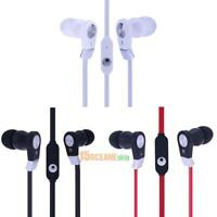 3.5mm Stereo In-ear Earbud Headset Earphone Flat Cable w/ Mic for Smart Phone
