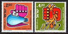 Israel 774-775, MNH. Hand, Light Bulb; Hand squeezzing solar energy, 1981