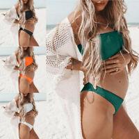 Maternity Tankinis Womens Summer Nursing Swimsuit Beachwear Pregnant Tops+Pant 2