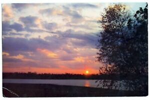 POSTCARD SUNSET OVER PYMATUNING DAM, PENNSYLVANIA, U.S.A.