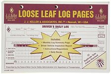 70-PACK JJ Keller Duplicate Loose Leaf Log Pages -Driver's Daily Log Book 613-MP