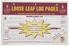 20-PACK JJ Keller Duplicate Loose Leaf Log Pages -Driver's Daily Log Book 613-MP