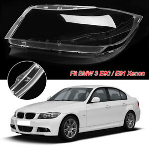 For BMW 3 E90 / E91 Xenon Front Left Headlight Headlamp Plastic Clear Lens Cover