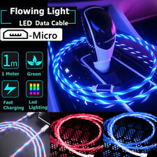 LED Light Up Micro USB Data Sync Charger Lead Cable For Samsung Android Phones