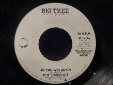 PROMO  Hot Chocolate 'So You Win Again' Mono/Stereo 45