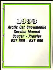 1993 ARCTIC CAT / COUGAR / PROWLER / EXT 550 / EXT 580 SNOWMOBILE SERVICE MANUAL