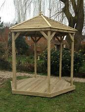 2M Hexagonal Wooden Gazebo / Spa / Hot Tub Enclosure - Delivered and Hand-Built