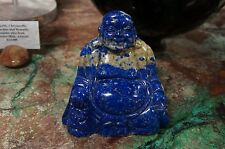 HUGE 7 POUND  Lapis Lazuli Buddha Carving Sculpture Handcrafted Gemstone!