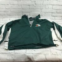 Holloway Celtics jacket windbreaker pullover 1/4 zip men's size large green