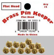 (120 Pieces) Pin Keepers backs Locks Locking (Flat Head Gold)