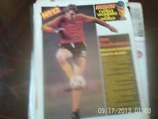 belgium jan ceulemans colour A4 football picture + belgium