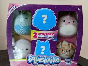 SQUISHVILLE Pattern Perfect Squad - 6 pack of Mini Squishmallows - NEW