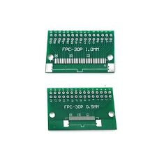 5pcs FFC/FPC 30 Pin 1mm 0.5mm to DIP Adapter PCB Board Converter Double Side UK