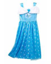 NWT AME Big Girls' Frozen Elsa Faux Fur Fantasy Nightgown Size 8