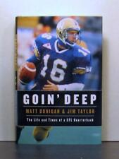 Matt Dunigan, CFL Quarterback, signed by Dunigan and Co-Author