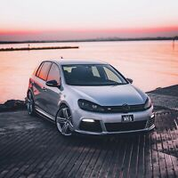 Fits Volkswagen VW Golf MK6 (Vinyl Sticker)Eyelids- GTI-R -TDI-TFSI- Gloss Black