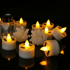 1-12Pcs Solar Powered LED Light Candle Lamp Flameless Tealight Xmas Party Decor
