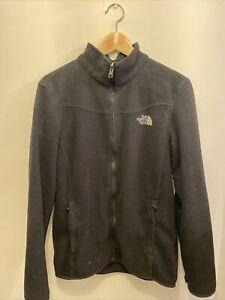 Mens The North Face Black Zip Fleece Size M