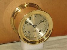 CHELSEA VINTAGE SHIPS BELL CLOCK ~3 3/4 IN.DIAL~1976~RESTORED