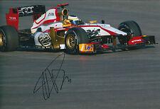 Pedro De La ROSA SIGNED Autograph 12x8 Photo AFTAL COA F1 Grand Prix HRT RARE