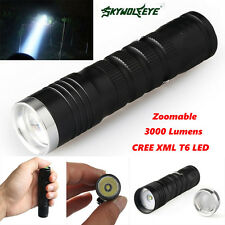 3000 LM 3 Modes Zoomable Torch Light CREE XML T6 LED 14500/AA Lamp Flashlight L1