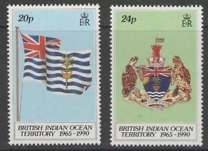 BRITISH INDIAN OCEAN TERR SG108/9 1990 25th ANNIVERSARY MNH