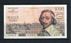 Billet 1000 Francs Richelieu 01/12/55 TTB Fay 42-17