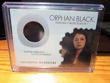 2016 ORPHAN BLACK TATIANA MASLANY SARAH MANNING WARDROBE M05 RELIC SEASON 1