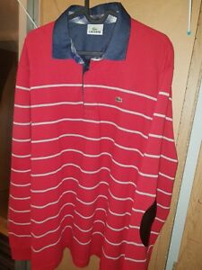 Mens lacoste long sleeve polo size 7 / XXL
