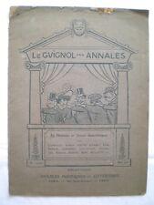 ANCIENNE REVUE LE GUIGNOL DES ANNALES 1905 JOB CAPPIELLO RABIER CARAN D'ACHE SEM
